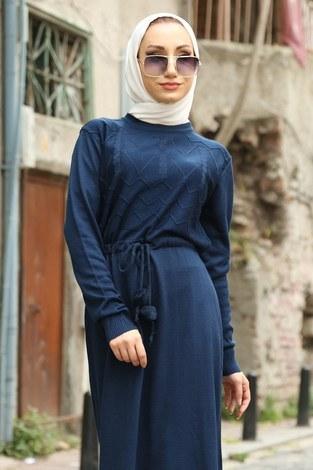 - Triko Elbise 1060-12 lacivert (1)