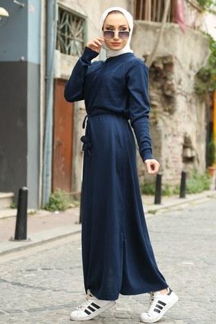 - Triko Elbise 1060-12 lacivert