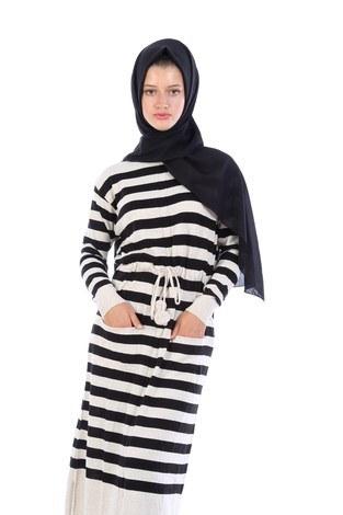 - Cep Detaylı Triko Elbise 1090-11 (1)