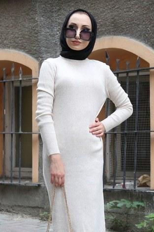 - Triko Elbise 12100-11 bej (1)