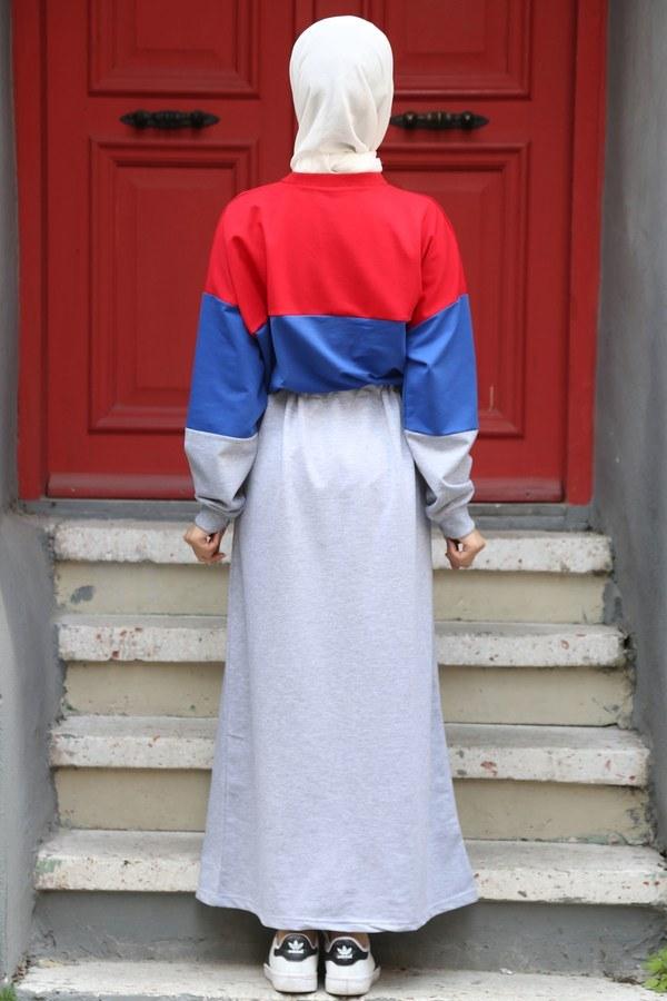 Beli Büzgülü Spor Elbise 2502-05
