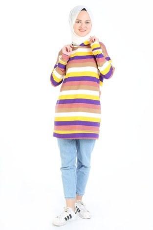 - Renk Katmanlı Tunik 6020-01