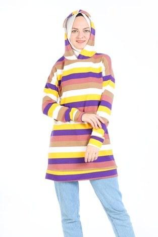 Renk Katmanlı Tunik 6020-01 - Thumbnail