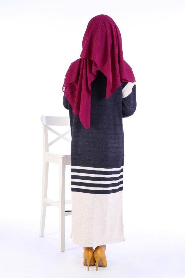 Triko Şık Tesettür Elbise 7612-13