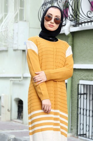 - Triko Şık Tesettür Elbise 7612-04 (1)