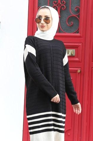 - Triko Şık Tesettür Elbise 7612-01 (1)