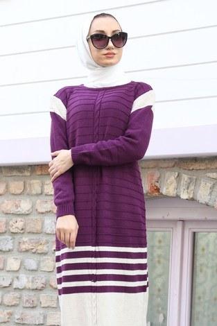 - Triko Şık Tesettür Elbise 7612-10 (1)