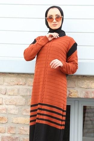 - Triko Şık Tesettür Elbise 7612-08 (1)
