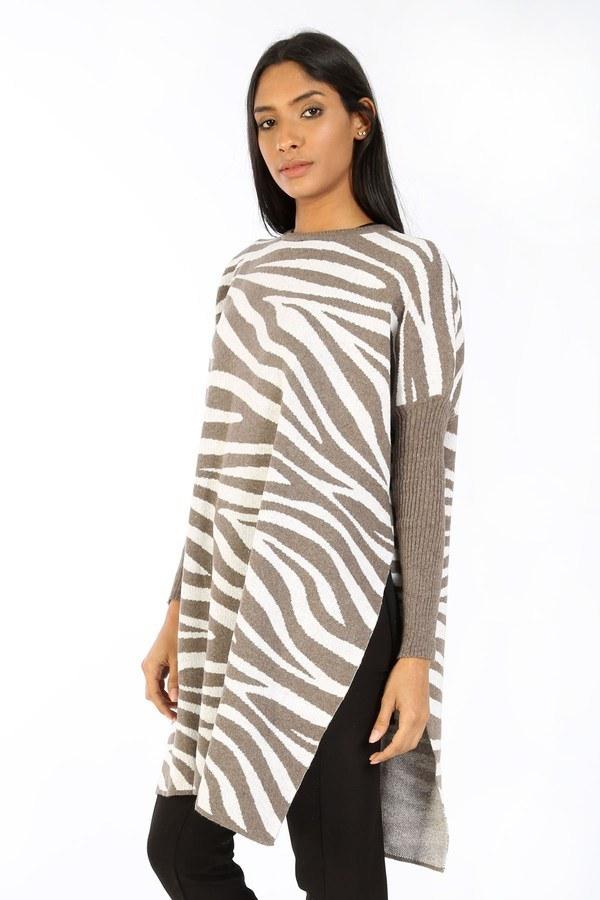 Zebra Desen Panço Kazak 7709-18 vizon