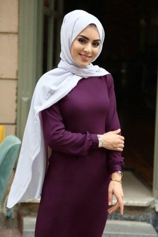 - Uzun Kalem Elbise 666666-27