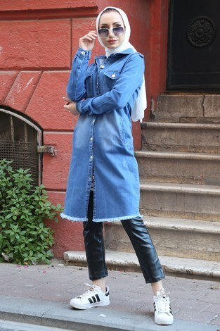 Uzun Kot Ceket 0550-1 - Thumbnail