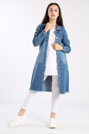 - Uzun Kot Ceket 0550-2