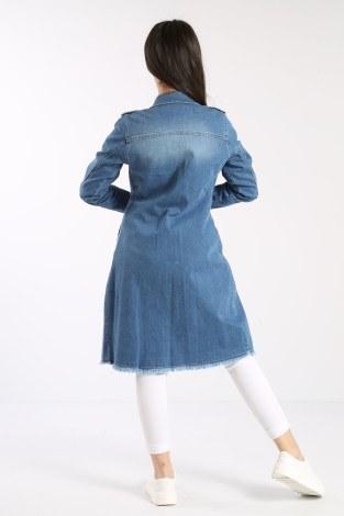 Uzun Kot Ceket 0550-2 - Thumbnail