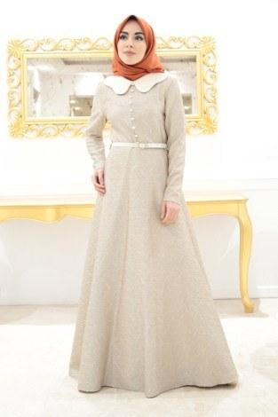 - VVN Tesettür Abiye Elbise 56006-1