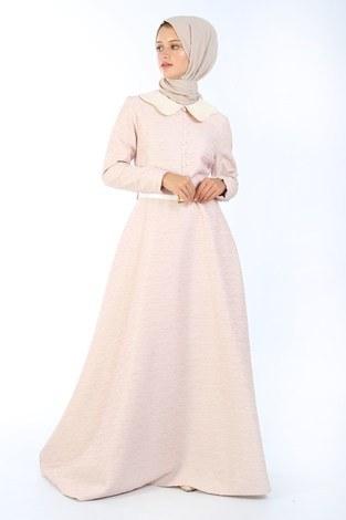 - VVN Tesettür Abiye Elbise 56006-02