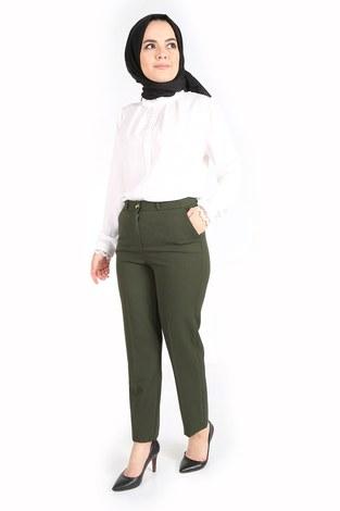 - Yandan Cepli Klasik Pantolon 60703-1 Haki