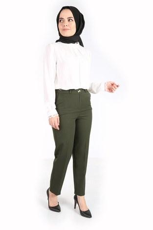 - Yandan Cepli Klasik Pantolon 60703-1 Haki (1)