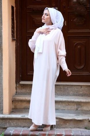Yarasa Kol Ferace Elbise 5676-12 - Thumbnail