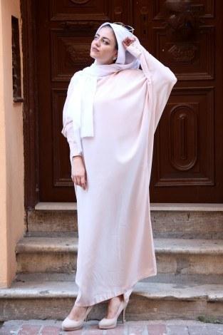 - Yarasa Kol Ferace Elbise 5676-12