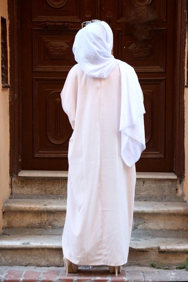 Yarasa Kol Ferace Elbise 5676-12