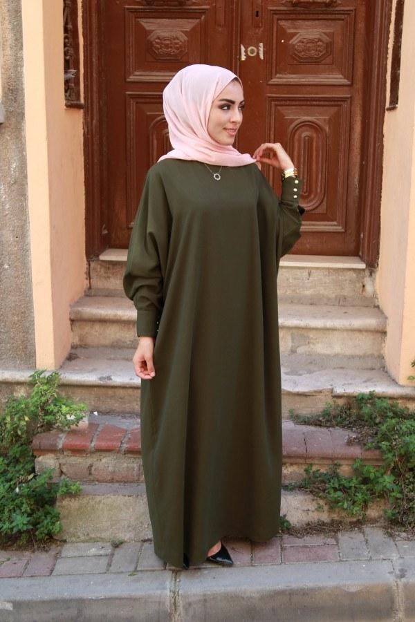 Yarasa Kol Ferace Elbise 5676-13