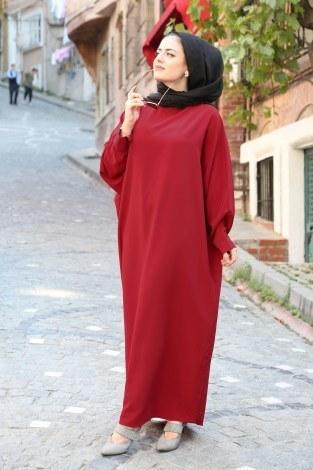 Yarasa Kol Ferace Elbise 5676-18 - Thumbnail