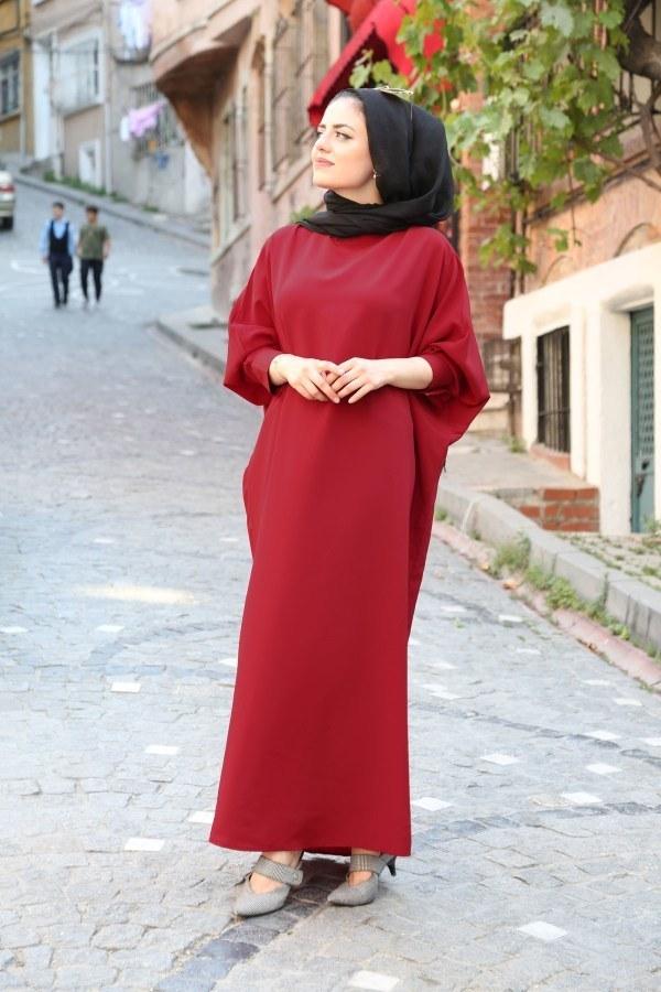 Yarasa Kol Ferace Elbise 5676-18