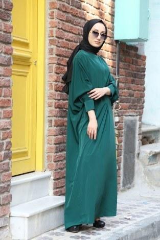 Yarasa Kol Ferace Elbise 5676-19 - Thumbnail