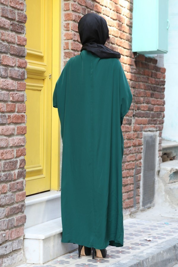 Yarasa Kol Ferace Elbise 5676-19