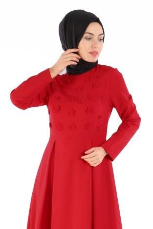 - Papatya Detaylı Elbise 1581-01 (1)