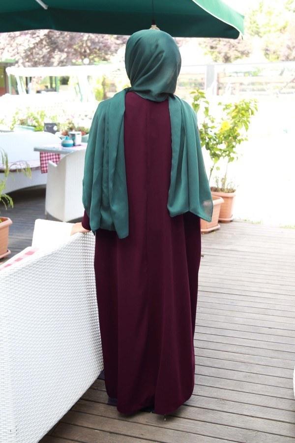 Yarasa Kol Ferace Elbise 5676-14
