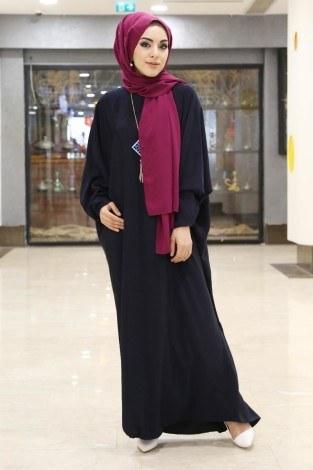 Yarasa Kol Ferace Elbise 5676-15 - Thumbnail