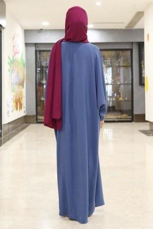- Yarasa Kol Ferace Elbise 5676-4 (1)