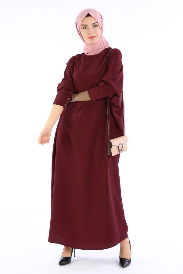 Yarasa Kol Ferace Elbise 5676-16