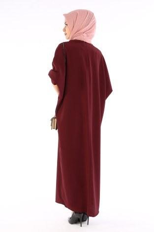 Yarasa Kol Ferace Elbise 5676-16 - Thumbnail