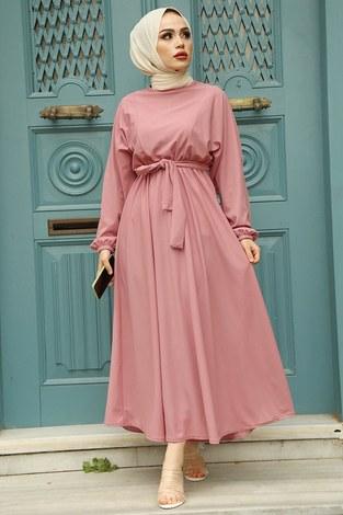 Yarasa Kol Mevlana Elbise 081019-2 - Thumbnail