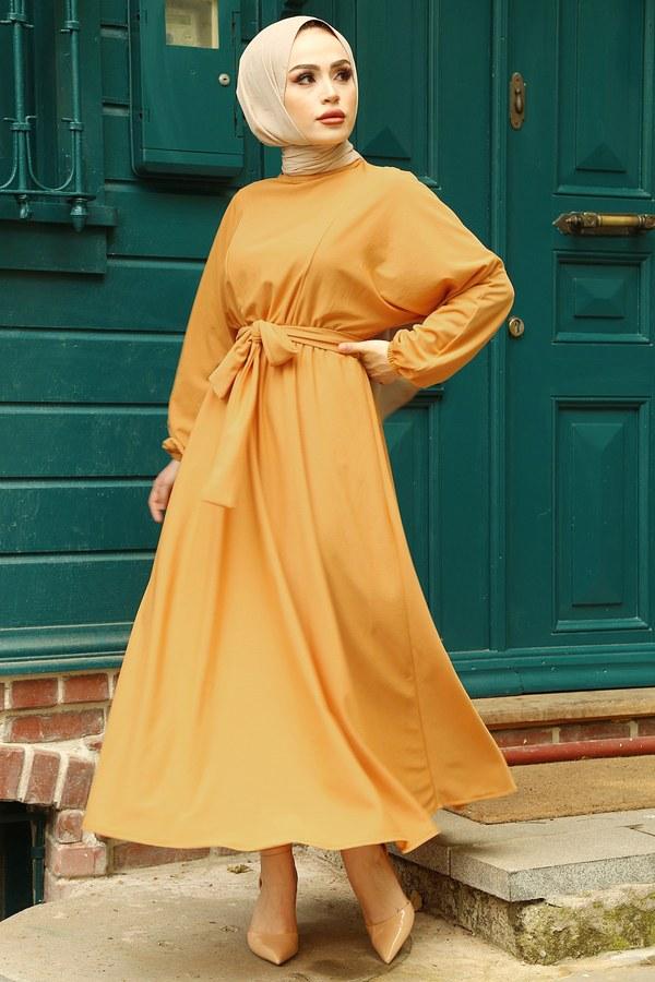Yarasa Kol Mevlana Elbise 081019-3