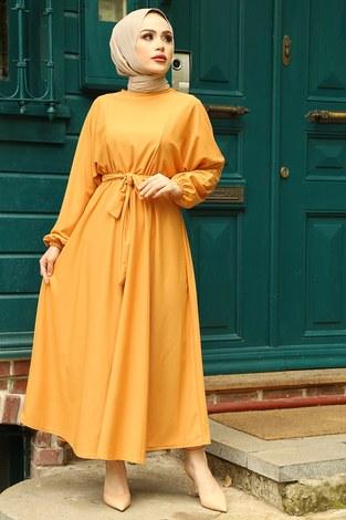 Yarasa Kol Mevlana Elbise 081019-3 - Thumbnail