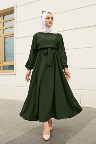 Yarasa Kol Mevlana Elbise 081019-4 - Thumbnail