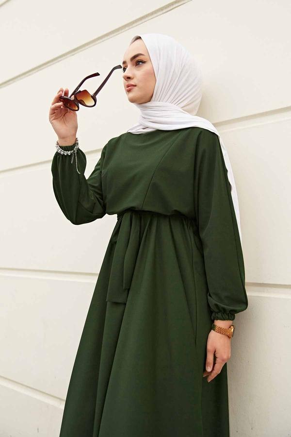 Yarasa Kol Mevlana Elbise 081019-4