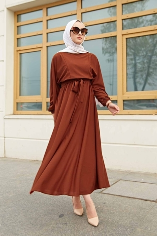Yarasa Kol Mevlana Elbise 081019-5 - Thumbnail