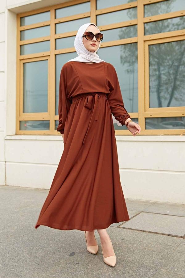 Yarasa Kol Mevlana Elbise 081019-5