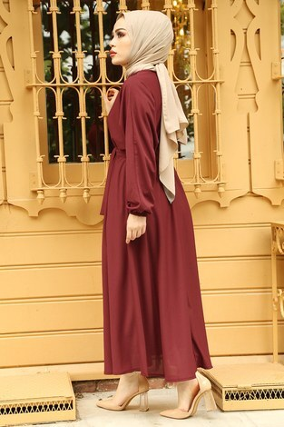 Yarasa Kol Mevlana Elbise 081019-6 - Thumbnail