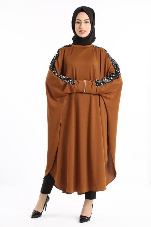 Yarasa Kol Pul Payetli Tunik 1149-03
