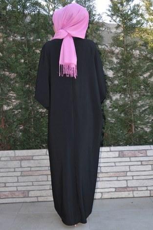 Yarasa Kol Siyah Ferace 5676-1 siyah - Thumbnail