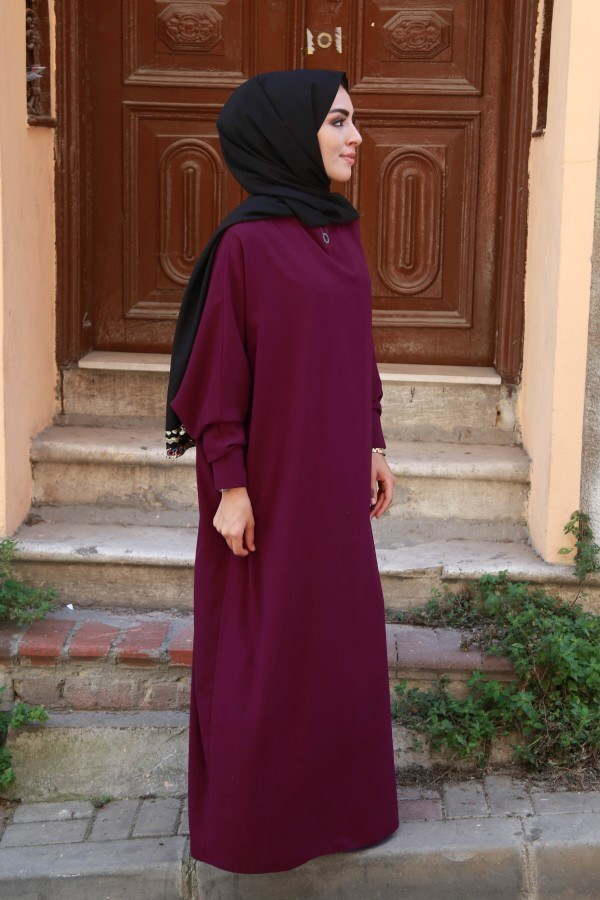 Yarasa Kol Ferace Elbise 5676-11