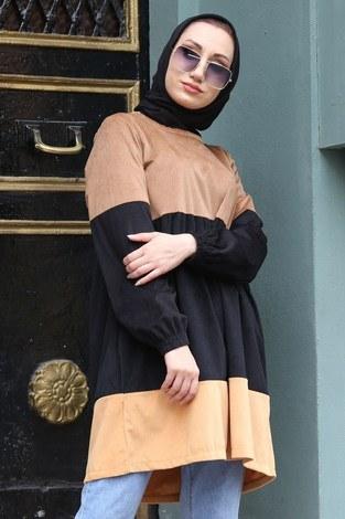 - Kadife Tunik MQ2377-11 camel (1)