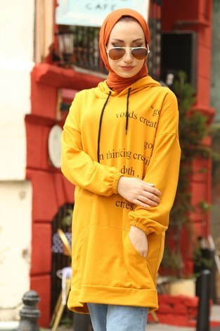 - Yazı Baskılı Tunik ER8722-10 sarı (1)