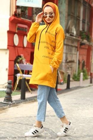 - Yazı Baskılı Tunik ER8722-10 sarı