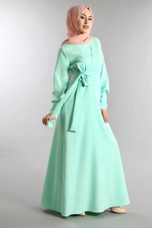 - Yelek Görünümlü Bağcıklı Elbise 5630-03